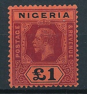 [51651] Nigeria 1914 Very good MH Very Fine Signed stamp $275
