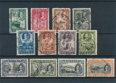 [51668] Nigeria 1936 Very good set Used Very Fine stamps $330