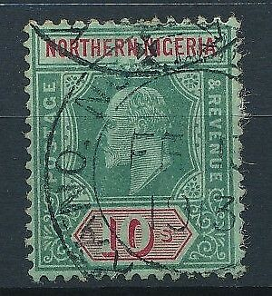 [51686] Nothern Nigeria 1910 good Used Very Fine stamp $75