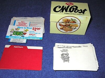 Collectible Post Recipe Box with Extra Recipe Cards, Kellogg's