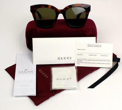 New Gucci Sunglasses Gg0029S 002 Havana