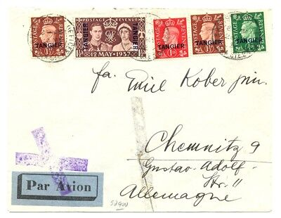 English Colony Morocco Agencies 1938 Cv Tangier To Germany -F/vf