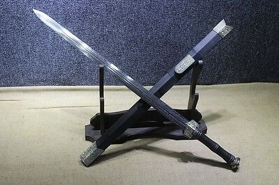 Chinese Hand Forged 1095 Folded Carbon Steel Han Jian Sword Sharp