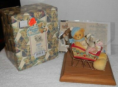 "1999 Enesco Cherished Teddies ""Brian"" Look Out Snow! Here We Go! #533807"