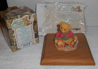 "1999 Enesco Cherished Teddies ""Jerome"" Can't Bear The Cold Without You #546534"