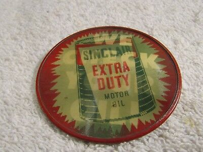 Vintage Sinclair Heavy Duty Motor Oil We Check Your Oil Pin Pinback Pictorial
