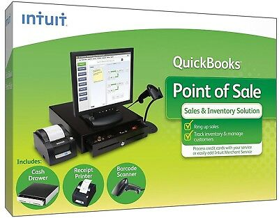 QuickBooks POS Basic Version 10 w/3 Piece Hardware Bundle pre-owned