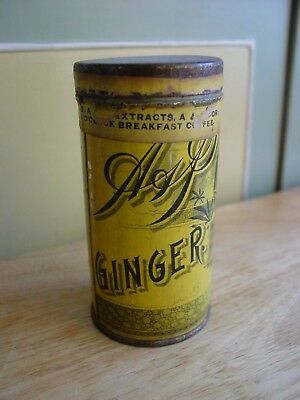 Antique A & P Ginger Sultana Spice Mills Lithographed Spice Tin