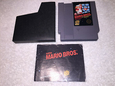Super Mario Bros. (Nintendo NES, 1985) 5 Screw Game w/Manual & Sleeve Excellent