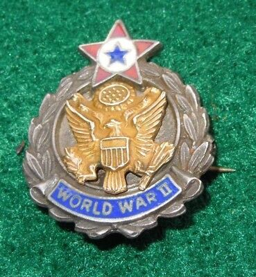 WWII US Army Son In Service World War II Sweetheart Home Front Pin STERLING RARE