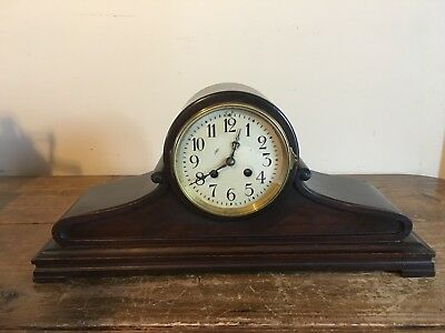 """Antique Baden Mantle Clock 18""""w X 8""""t, Works Good With Chimes"""