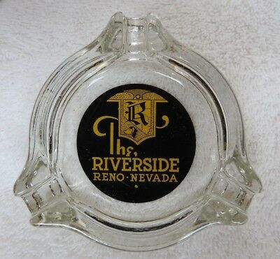 "Vintage & Scarce ""The Riverside Casino"" Ashtray Reno Nevada Mint Condition"