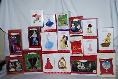 Lot 18 Hallmark Keepsake Ornaments Disney Snow White, Sleeping Beauty, Mickey