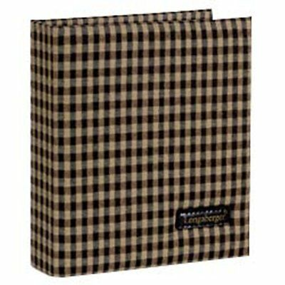 Longaberger Khaki Check PHOTO ALBUM ~ Brand New with Tags from Homestead!