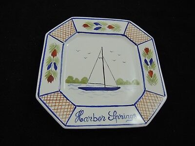"Quimper France Plate 8"" Harbor Springs Sailboat 2001"