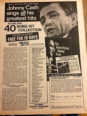Johnny Cash, Greatest Hits, Full Page Vintage Promotional Ad