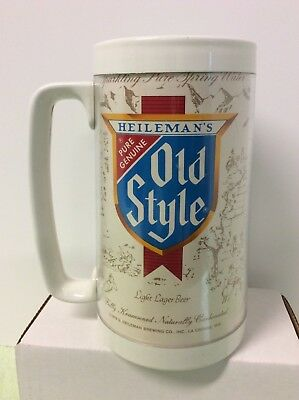 Vintage Heileman's Beer Thermo-Serv Mug Cup Old Style Lager 1978 NICE