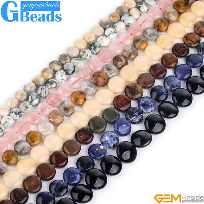 NATURAL COIN ASSORTED Stone Loose Beads For Craft Jewelry
