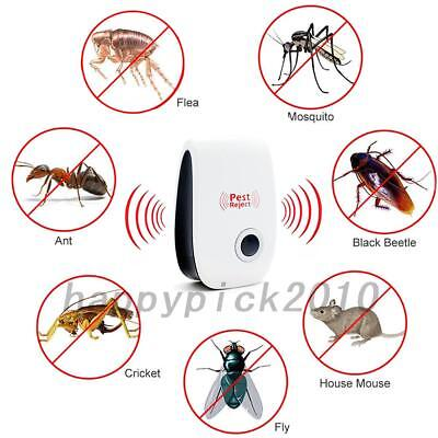Ultrasonic Pest Repeller Bug Spider Rat Insect Repellent Electric Plug 4 Types