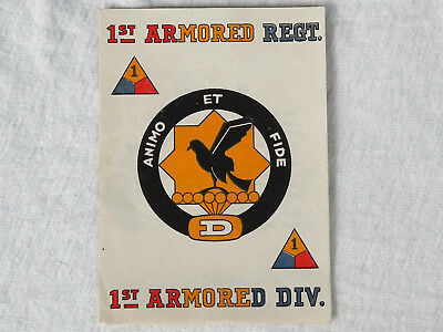 WW II US ARMY 1st Armored Division CHRISTMAS CARD 1943 1st Armored Regt
