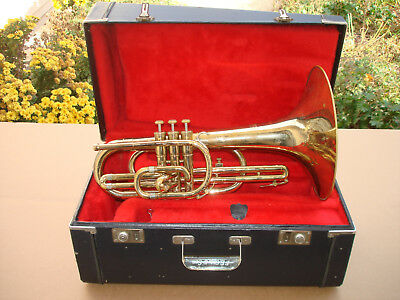 Olds Marching Mellophone in Key of F with Mouthpiece & Case S/N A11841