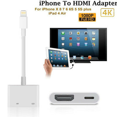Lightning to HDMI Digital AV TV Adapter Cable For Apple Iphone 6 7 8 Plus Ipad X