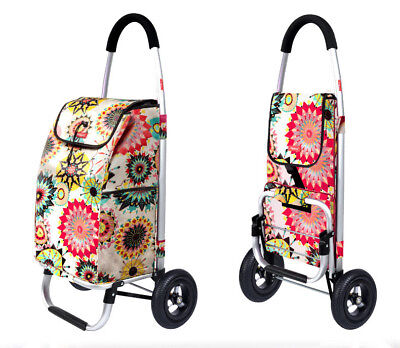 A89 Rugged Aluminium Luggage Trolley Hand Truck Folding Foldable Shopping Cart