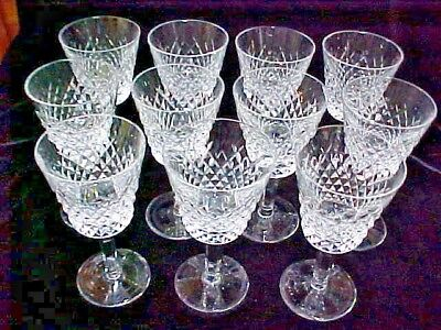 "(SET OF 10) Waterford Ireland Crystal ALANA CLARET 5 7/8"" WINE GLASS GOBLET EXCL"