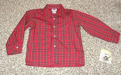 Toddler Boys Good Lad Plaid Shirt Long Sleeve Button Size 24 Months NEW
