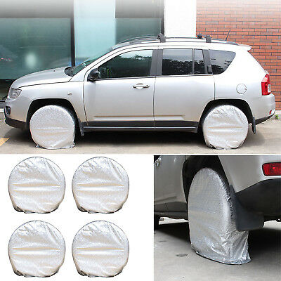 Set Of 4 Tote Spare Wheel Tire Storage Cover Wheel Bag Fits RV Car Truck Camper