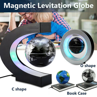 O/C Shape Magic LED World Map Decoration Magnetic Levitation Floating Globe