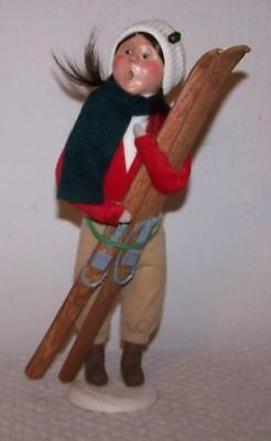 2001 Byers Caroler - Woman with Skis - SIGNED