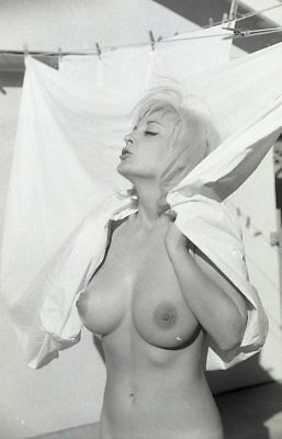 1960s Ron Vogel Negative, busty nude blonde pin-up girl Betty Miller, t216882