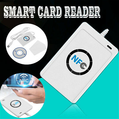 1Set USB ACR122U NFC RFID Smart Card Reader For all 4 types of NFC + 5 IC Cards