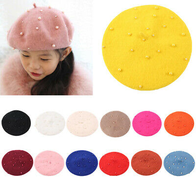 26097b4a Baby Kids Soft Wool Beret Hat Toddler French Artist Woolen Winter Warm Cap  2-5Y