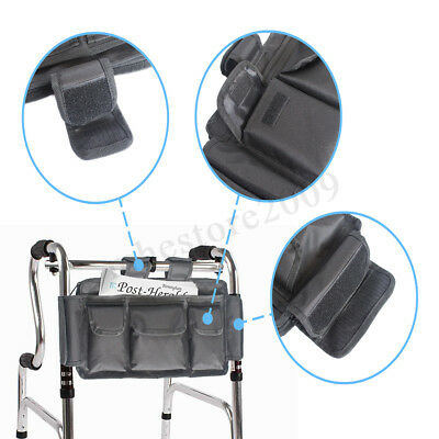 Walker Organizer Storage Bag For Wheeled Disability Aid Frame Mobility