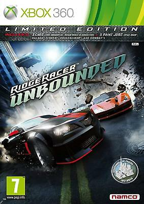 Ridge Racer Unbounded - Limited Edition Xbox 360 PAL GOOD CONDITION WITH MANUAL