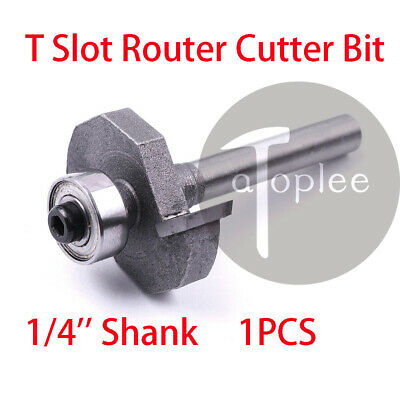 1pcs 1/4'' Shank T Trim Edge Router Slot Cutter End Mill Trimming Carving Blade