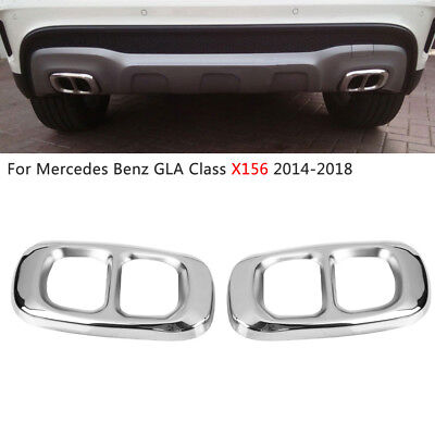 Stainless Steel Exhaust Pipe Tips Cover For Mercedes Benz GLA Class X156 14-18