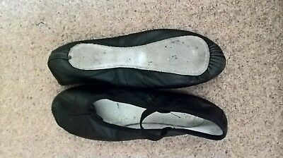 Black ballet shoes - leather, full sole, various sizes
