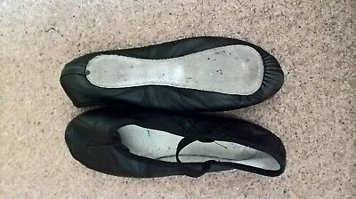 Black ballet shoes - leather, full sole