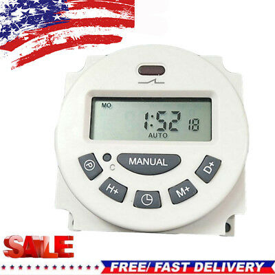 12V Digital Intelligent Power Timer Programmable Relay Control Timer Switch