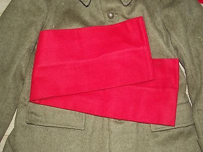 ceinture de flanelle rouge Spahis , coloniale 1940-1960.France 40 Indochine. 7f742ed509f