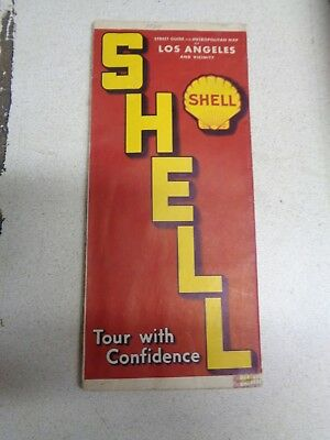 1939 Shell Map Street Guide Los Angeles CA gas station 39 Chevy Ford Dodge