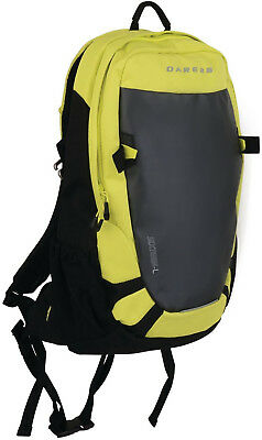 Dare2B Kros 16L Ski Backpack Black Green Reflective Rucksack Multi Pocket Bag