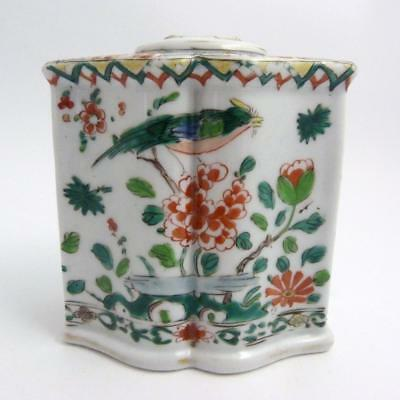 18Th Century Chinese Famille Verte Porcelain Tea Caddy, Kangxi Period