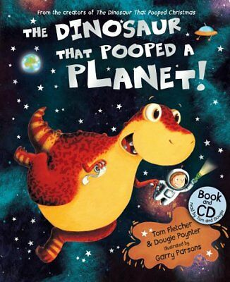 The Dinosaur That Pooped a Planet! Book & CD New Paperback Book Tom Fletcher, Do