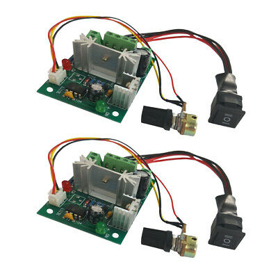 2 Pieces DC 6A Motor Speed Control Reversible PWM Controller Board DC 6V-30V