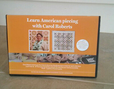 LEARN AMERICAN PIECING with CAROL ROBERTS DVD ~ NEW