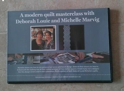 A MODERN QUILT MASTERCLASS with DEBORAH LOUIE and MICHELLE MARVIG DVD ~ NEW